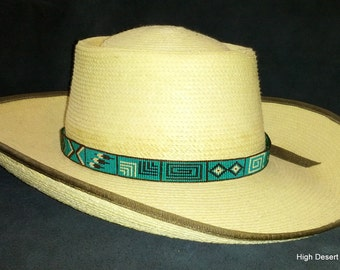 Story Teller Hat Band Band Custom Beadwork Hand Beaded HatBand Native American Cowboy Hatband