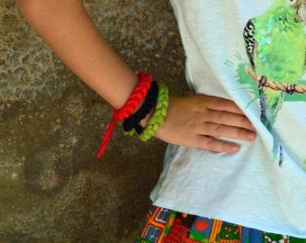 Toddler jewelry little girl jewelry. Red toddler bracelet. Black baby bracelet. Toddler girl birthday gift. Boho flower girl gift set.