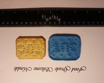 Full Size TUC Biscuit Food Safe Safe Super Flexible Silicone Mould / Mold