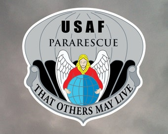 Pararescue Stickers - Eight 2 Inch Contour Cut Stickers - Weatherproof Vinyl with Laminate Overlay 2-0015