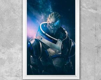 Large 11 x 17 Mass Effect Garrus Vakarian Print