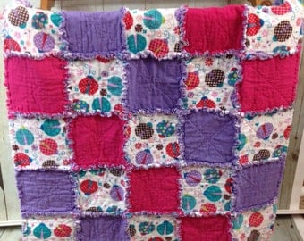 Children's Rag Quilt- Ladybugs
