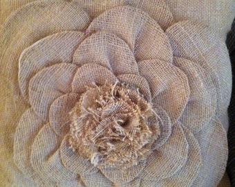 Burlap Petal Pillow