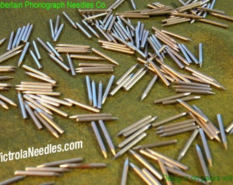 300 MEDIUM polished Gramophone NEEDLES for Vintage Victrola Phonograph 78rpm Shellac Records ETSY