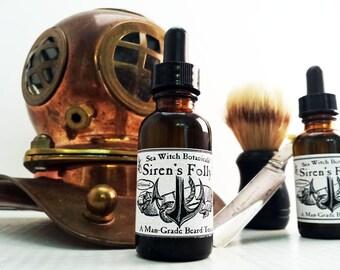 Siren's Folly - A Man Grade Beard Tonic ~ Beard Oil ~ All Natural ~ Vegan ~ Fair Trade ~