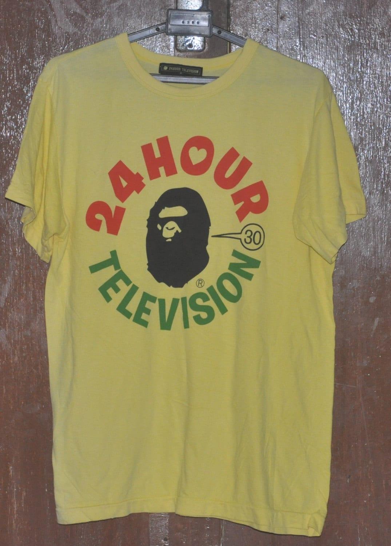 Vintage 24 Hour Television X A Bathing Ape Bape T Shirt Medium