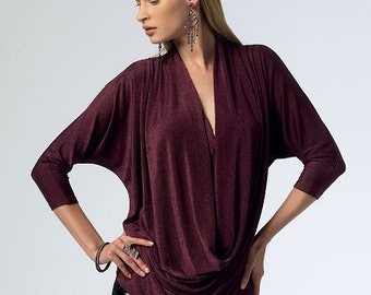 McCall's Sewing Pattern M6841 Misses' Cowl-Neck Tops