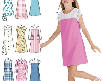 Simplicity Sewing Pattern 1457 Girls' & Girls' Plus Pullover Jumper or Dress