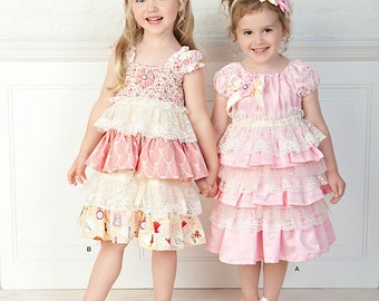 Child Lacey Dresses and Headband Simplicity Pattern 1474