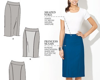 Simplicity Sewing Pattern 1541 Misses' and Miss Petite Amazing Fit Skirt