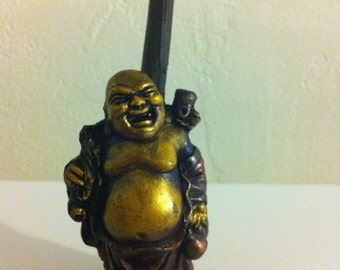 Tobacco Hand Made Pipe, Golden Buddah  Design