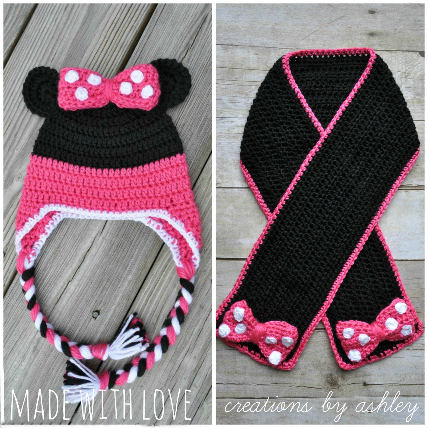 Amazing Free Minnie Mouse Hat Crochet Pattern Frieze - Easy Scarf ...