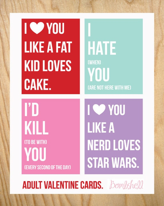 It's just a graphic of Influential Free Printable Valentine Cards for Adults