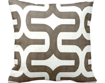 50% OFF SALE: 16x16 Pillow Cover Decorative Throw Pillow Cover Brown Pillow Cover Geometric Pillow Decorative Pillow Brown Cushion Cover