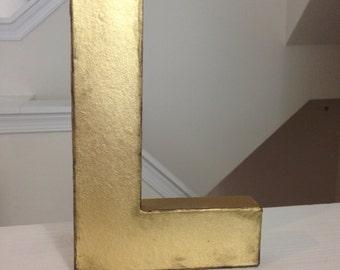 Metallic Paper Mache Letters 8in Home Decor Wedding Nursery