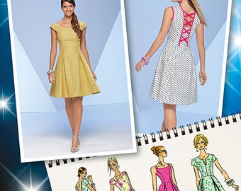 OUT of PRINT Simplicity Pattern 1418 Misses' Dress with Bodice Variations