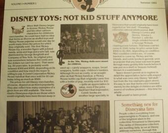 """Vintage """"The Disneyana Collector"""" Newsletter - Volume 1, Number 1  Summer 1982"""