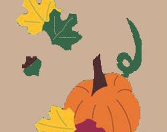 Pumpkin Patch Handcrafted Applique Garden Flag