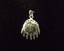 Sterling Silver Indian Sheild Charm/Pendant - .925 1.3 grams