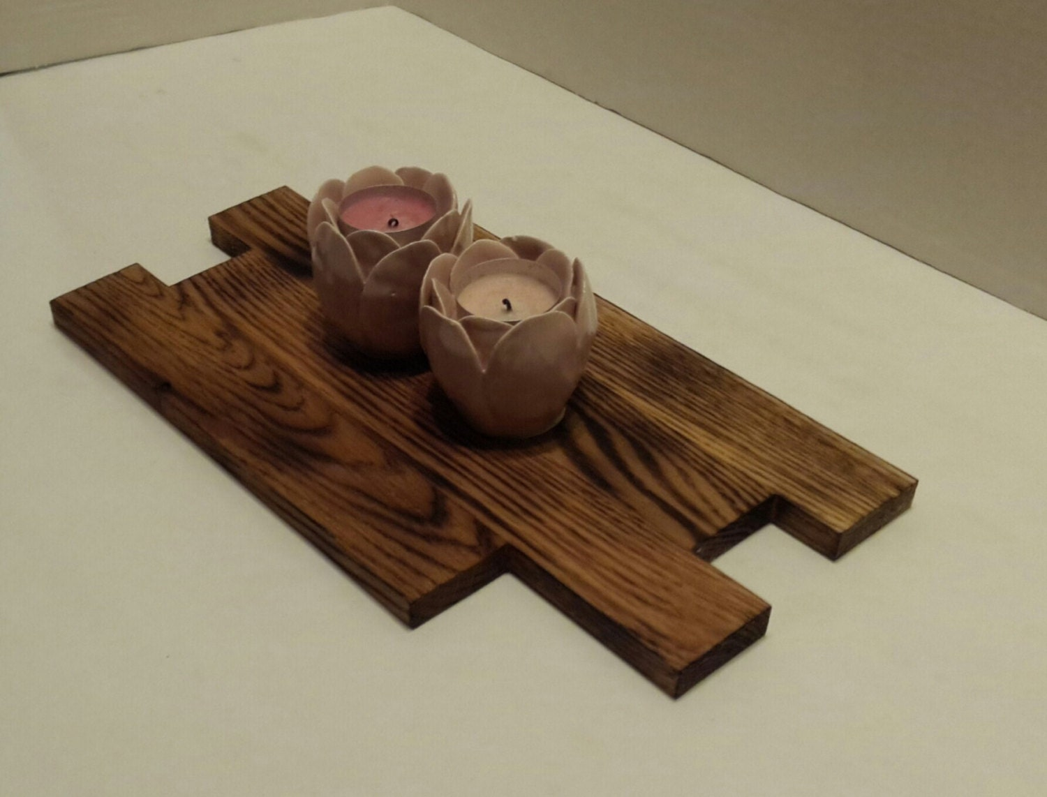 Reclaimed oak wood centerpiece table hardwood