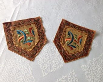 Vintage Embroidered Patch Made in Switzerland about 1920s.This listing is for one pair of Patch
