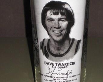 Vintage 1977 Dave Twardzik Portland Trailblazers NBA Champion Glass