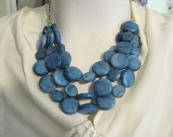 Beautiful Blue Statement Necklace.