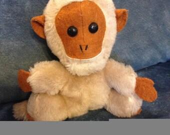 Vintage Dakin 1976 Little Monkey STUFFED with Ground Nutshells Plush Toy Brown