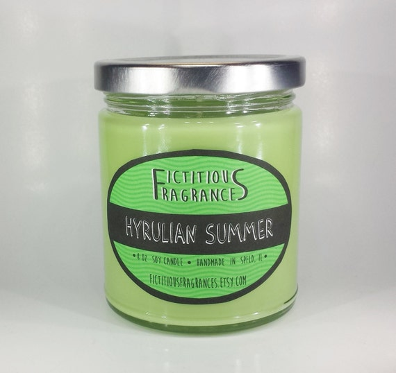 Hyrulian Summer -- Zelda Inspired 8oz Scented Soy Candle