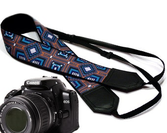 Ethnic Camera strap.  DSLR / SLR Camera Strap. Camera accessories.