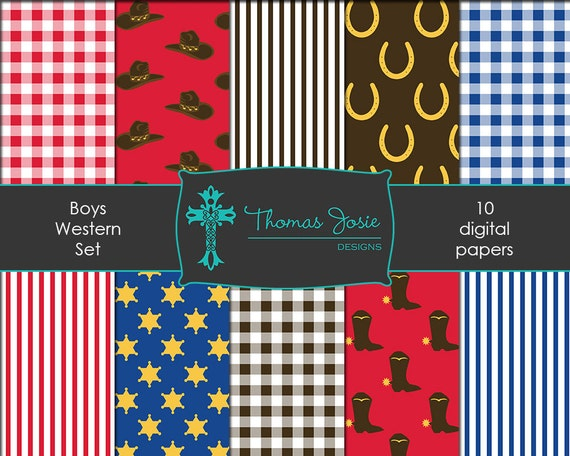 Western Digital Paper Western Background Western Printables Western Party Paper Boys Western Cowboy Party Paper 8.5 x 11 - Instant Download