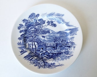 12 available! Wedgwood Countryside Salad Plate, Blue and White, Multiples Available