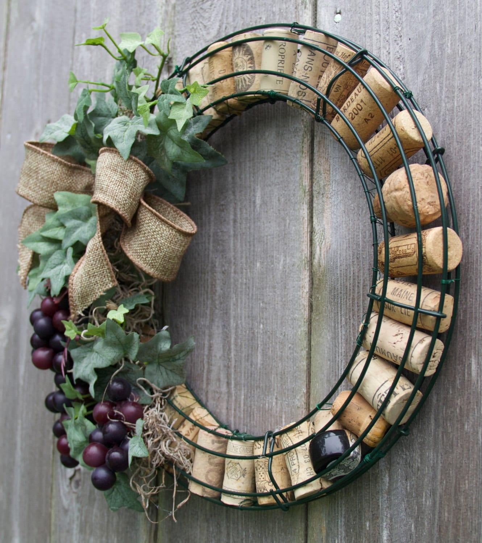 Cork Wreath: Wine Cork Wreath With Grapes