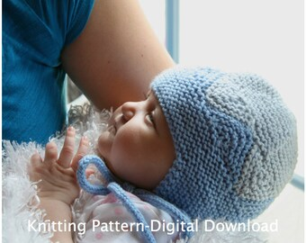 Baby Triangles Hat Knitting Pattern (digital download)