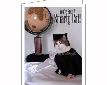 You're Such A Smarty Cat! Graduation Card