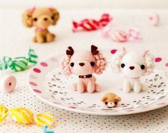 Fluffy Cute Wool Felt Animals Needle Felting Craft Ebook / PDF Patterns