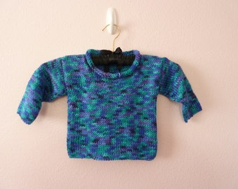 Multi-shade Blue Baby Pullover Sweater size 6 - 12 month