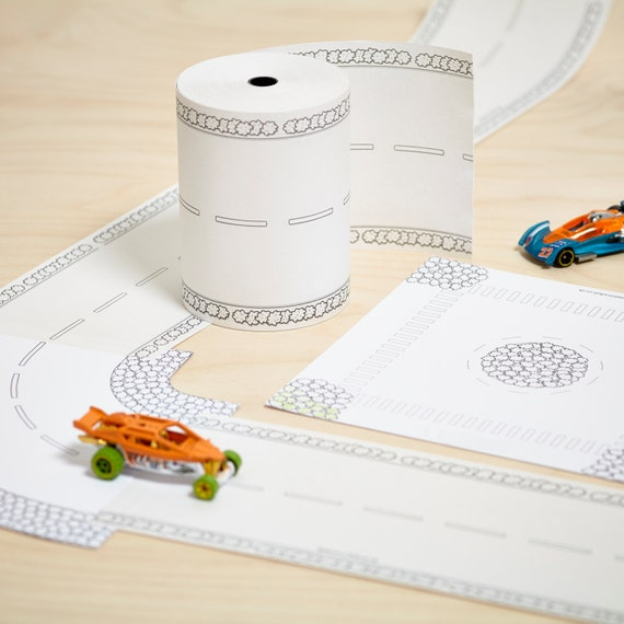 Paper road on a roll ultimate toy car track kit a 50m long for How to make a paper car that rolls