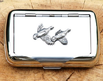 Partridge Hand Rolling Tobacco Cigarette Tin Shooting Gift