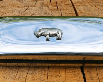 Rhino Metal Pen Case & Ball Point Set Personalised Engraved Gift