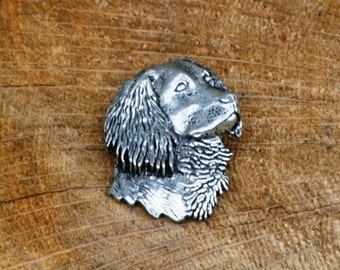 Springer Spaniel Pin Brooch Badge Pewter Gundog Gift