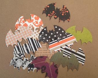 Halloween BAT paper diecuts, a baker's dozen