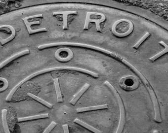 Detroit Manhole Cover Print
