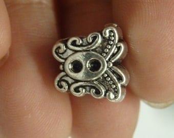 10 butterfly european bead bracelet charm tibetan silver antique silver wholesale