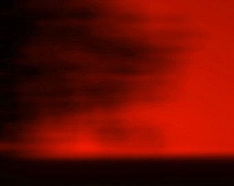 Red Blurred Sky, Abstract Photography, Nature Photography, Landscape Photography, Wall Art Print, Minimalist Photo, Red, Crimson