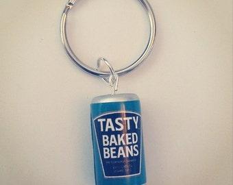 Baked beans keyring