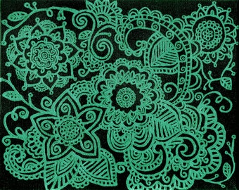 Colorful henna inspired print