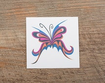 Scary butterfly tattoo sticker by Gilbert Jansen