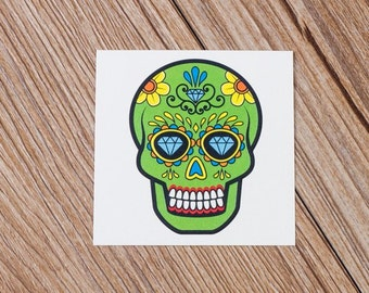 Sugar Skull tattoo sticker by Bijan Gorospe