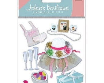 Ek Success Jolee's Boutique WEDDING SHOWER Dimensional Stickers